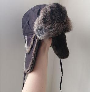 La Cordée Brown Chapka with Rabbit Fur